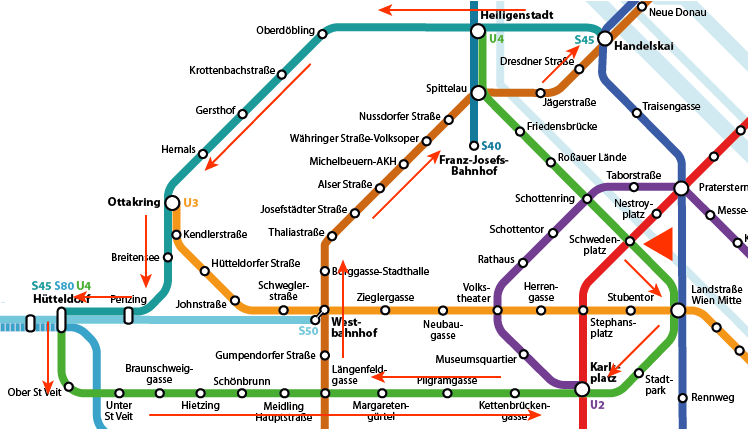 A tour of the historical metro lines The Vienna Metro