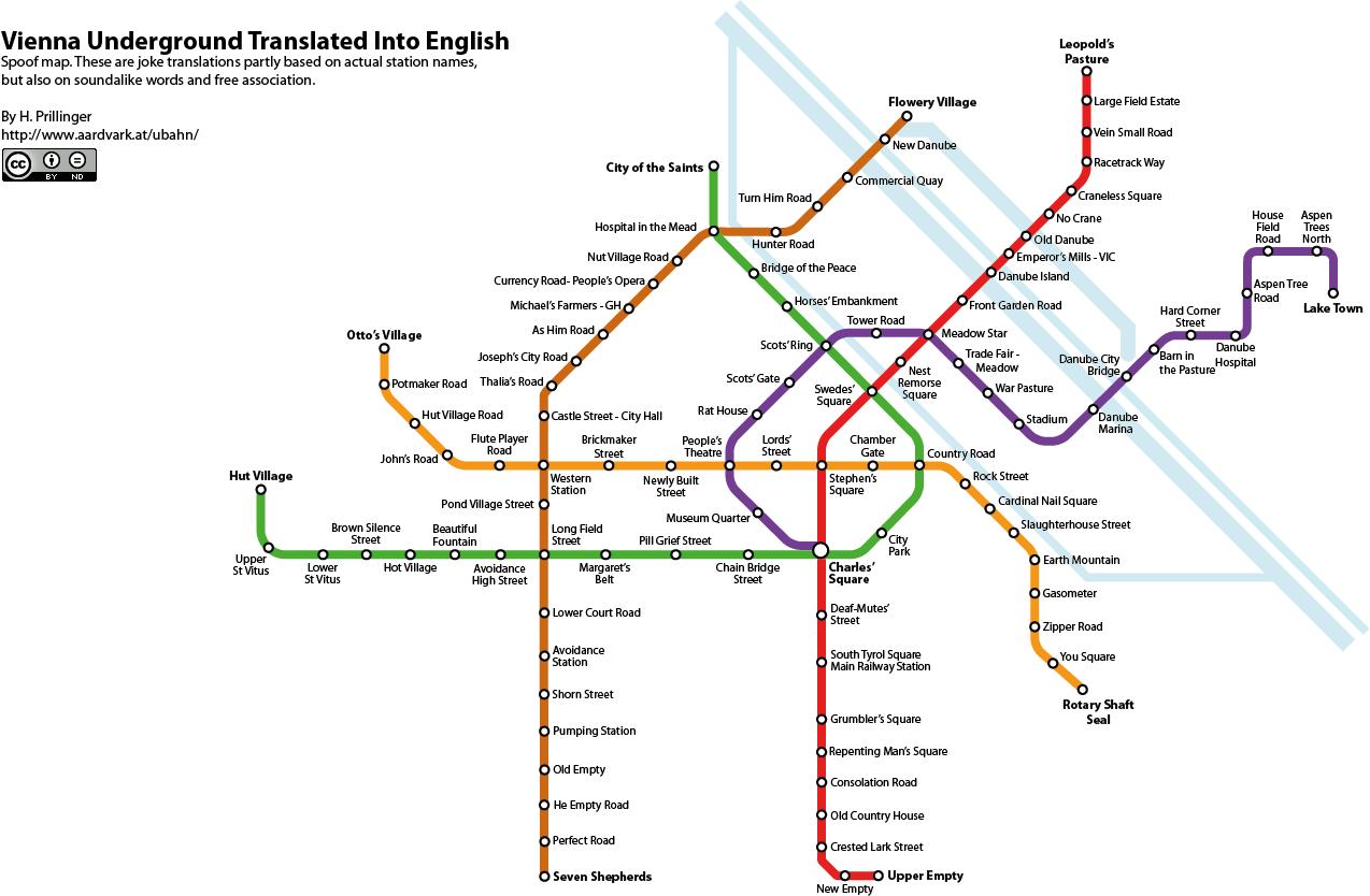 Vienna S-bahn And U-bahn Map Vienna Underground Map