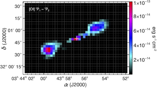 Herschel spectral-line mapping of the HH211 protostellar system