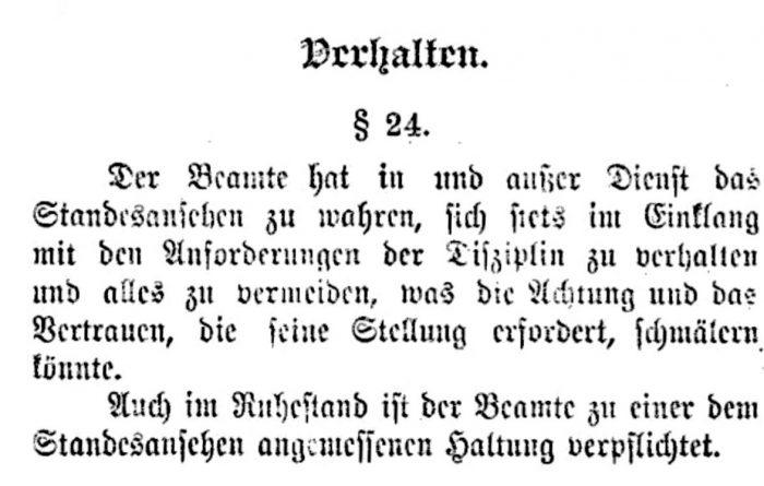Dienstpragmatik 1914