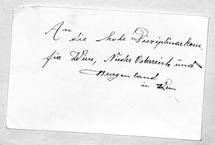 Handschriftliche Notiz DOK