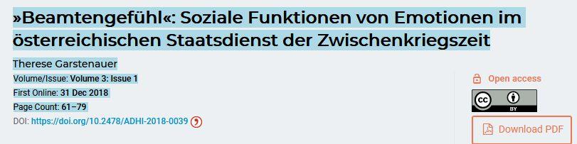 """Beamtengefühl und """"Conduct of Life"""""""