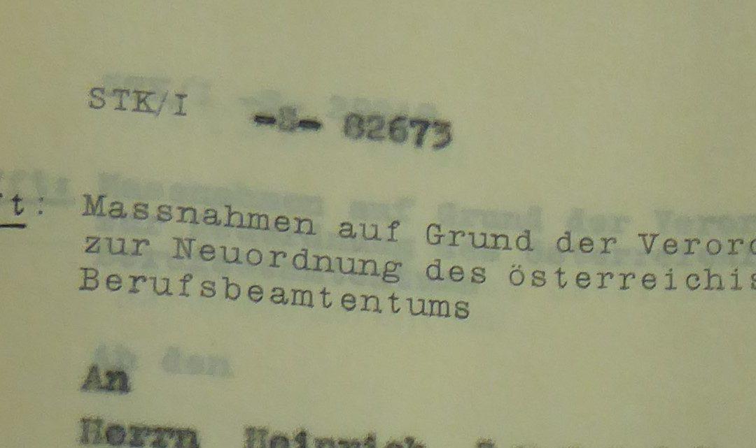 CfP: Lustration: Bürokratische Eigenlogik und politische Regimewechsel im 20. Jahrhundert, Wien, 24. – 25.9.2020